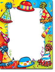 Paper So Pretty - Blank Designer Papers (Birthday Party Hats) (DP889)